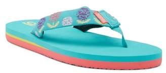 Teva Mush II Dandelions Aqua Sandal (Big Kid)