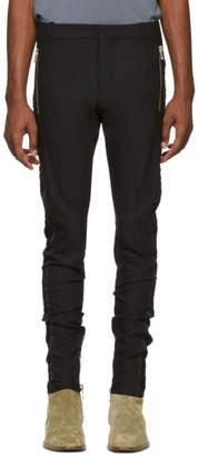 Balmain Black Wool Side-Band Trousers