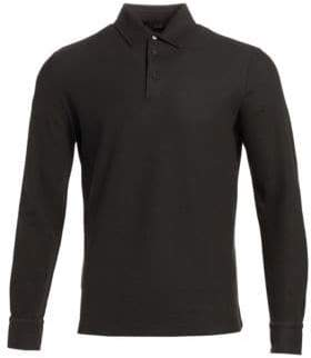 Loro Piana Huckalce Long-Sleeve Polo Shirt