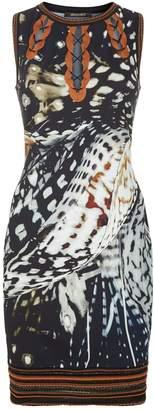 Roberto Cavalli Shells Printed Sleeveless Dress
