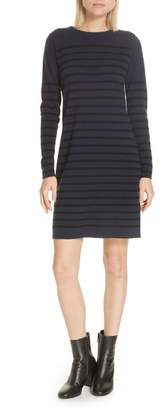Allude Stripe Wool & Cashmere Sweater Dress