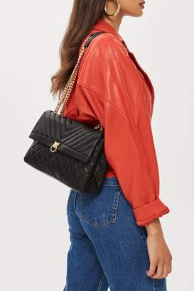 Topshop Panther Quilted Shoulder Bag