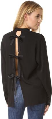 Helmut Lang Back Tie Blouse $370 thestylecure.com