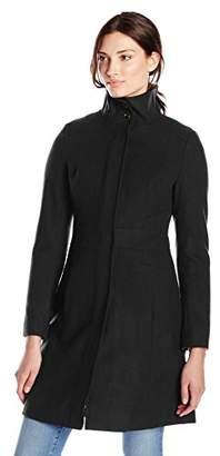 Via Spiga Women's Funnel-Neck Wool-Blend Coat