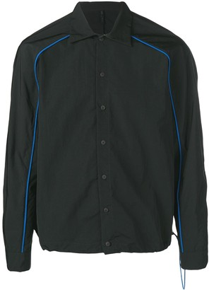 Unravel Project drawstring button down shirt