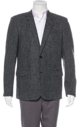 Saint Laurent 2014 Plaid Wool Silk-Lined Blazer
