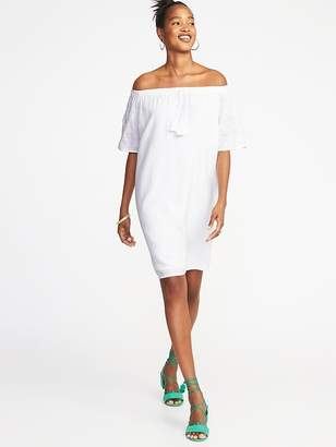 Old Navy Embroidered Off-the-Shoulder Shift Dress for Women