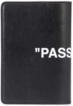 Off-White Passport quote wallet