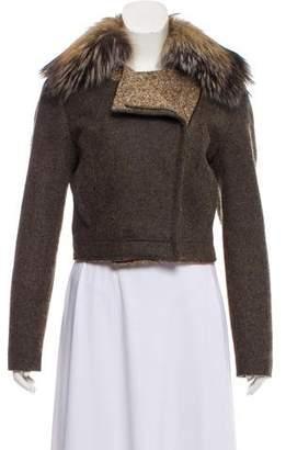 Prada Sport Fur-Trimmed Wool Jacket
