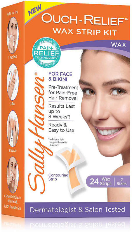 Sally Hansen Ouch-Relief Wax Strip Kit For Face and Bikini