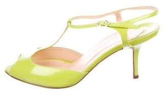 Christian Louboutin Patent Leather T-Strap Sandals