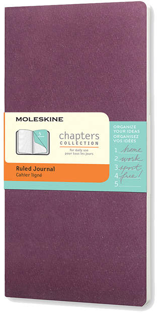 Purple Chapter Ruled Journal