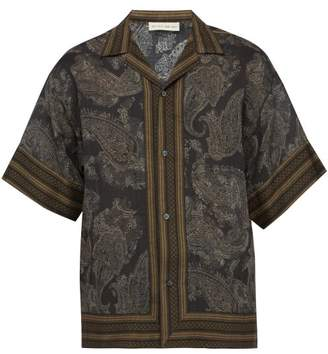 Etro Paisley Print Voile Shirt - Mens - Brown Multi