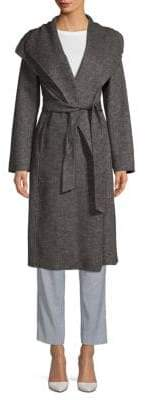 T Tahari Elliot Long Wool Wrap Coat