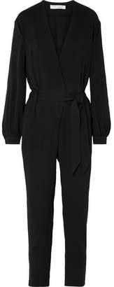 IRO Frame Belted Crepe Jumpsuit - Black