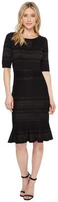 Taylor Glitter Bodycon Sweater Knit Dress with Flounce Hem Women's Dress