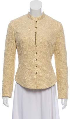 Celine Patterned Button-Up Jacket