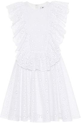 MSGM Cotton eyelet lace minidress