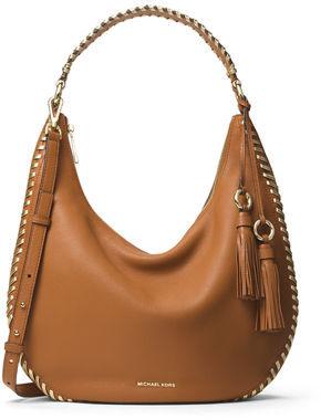 MICHAEL Michael Kors Lauryn Large Leather Shoulder Bag $398 thestylecure.com