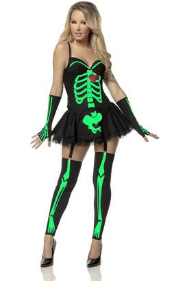 Mystery House Women's Neon Green Skeleton