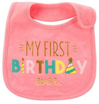 Carter's Just One You made by carter Baby Girls' My First Birthday Bib - Just One You® made by Pink OSZ