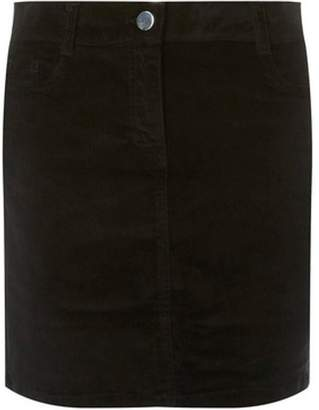 Dorothy Perkins Womens Black Corduroy Skirt