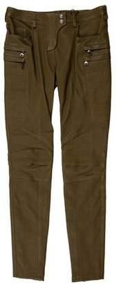 Balmain Leather Moto Pants w/ Tags