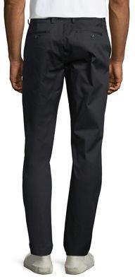 DKNY Men's Sateen Slim-Leg Trousers