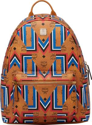 MCM Stark Gunta M Stripe Backpack In Visetos
