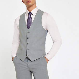 River Island Light grey smart vest