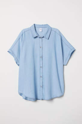 H&M Lyocell Denim Shirt - Blue
