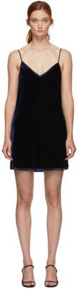 I.D. Sarrieri Navy Velvet Mini Dress