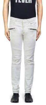 Balmain Classic Moto Skinny Fit Jeans