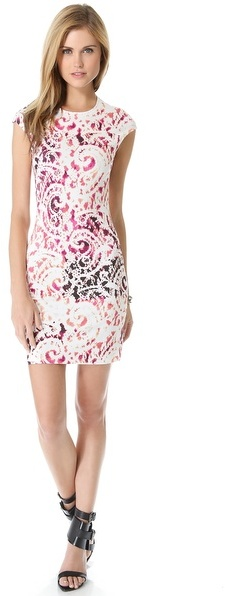 McQ by Alexander McQueen Alexander McQueen Interlock Cap Sleeve Dress