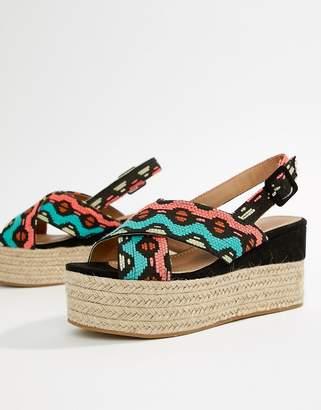 Asos Design DESIGN Trio Espadrille Wedge Sandals