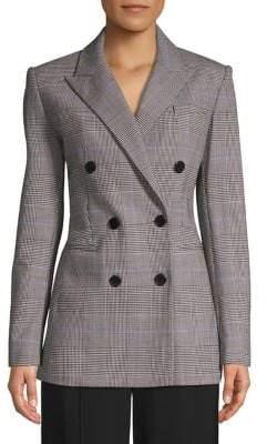 Theory Portland Windowpane Wool-Blend Jacket