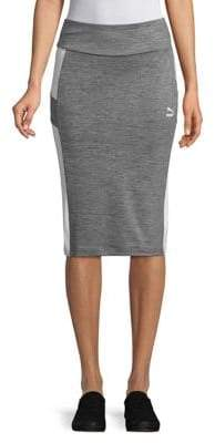 Puma Archive Side Stripe Pencil Skirt