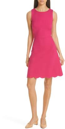 Kate Spade Scalloped Ponte Dress