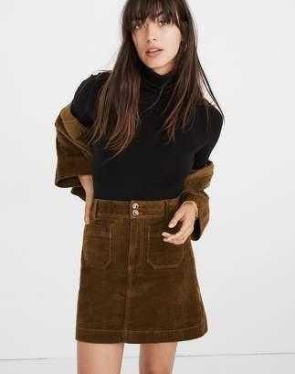 Madewell Corduroy A-Line Mini Skirt