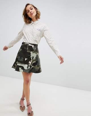 Paul & Joe Sister camo cat mini skirt