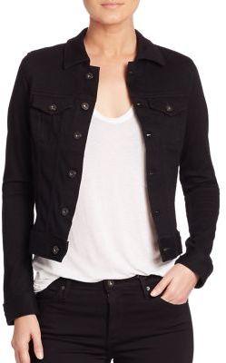 AG Robyn Black Denim Jacket $215 thestylecure.com