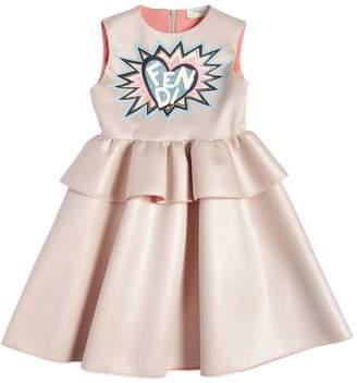 Fendi Sequined Logo Neoprene Dress