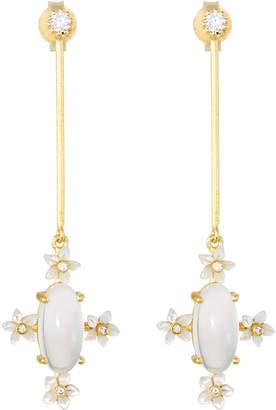 Indulgems Linear Bar Drop Earrings, White
