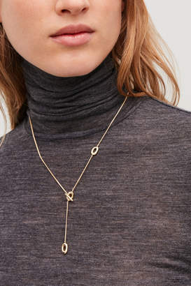 Cos GOLD-PLATED LARIAT NECKLACE