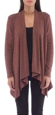 Bobeau B Collection By Cozy Draped Open Cardigan