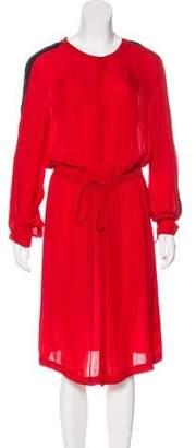 A.L.C. Silk Long Sleeve Dress