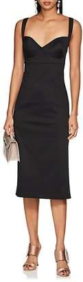 Barneys New York Women's Cotton Sateen Bustier Fitted Dress