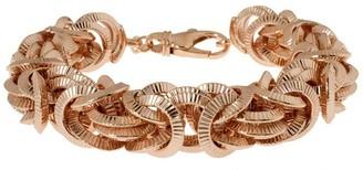 """Bronzo Italia 7-1/4"""" Textured Byzantine Bracelet"""