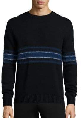 Plac Retro Spectrum Striped Mohair & Wool Blend Sweater
