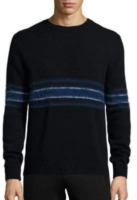 Plac Retro Spectrum Striped Mohair & Wool Blend Sweater